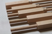 Close-Up of Wooden Adjustable Balusters by NuStair