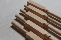 Close-Up Image of Adjustable Wooden Balusters by NuStair