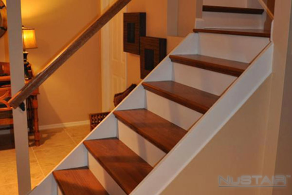 Basement Staircase Remodel in Philadephia  Pennsylvania. Remodeling Stairs   Staircase Remodel Gallery   NuStair