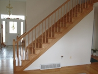 Solid Oak Stair Caps Replaced Old, Worn Carpet