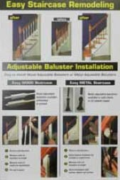 Adjustable Balusters Stair Parts Display