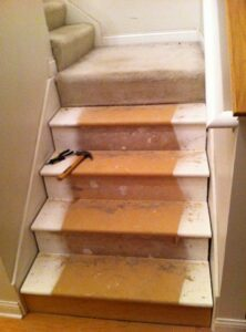 During NuStair Remodel by Eric Shapin- DIY Stair Remodel Parts