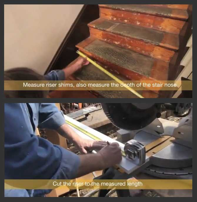 How To Refinish Or Retread Stairs Step