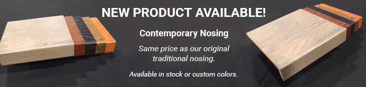 Contemporary Nosing Available- Stair Parts, Tread, Refinishing