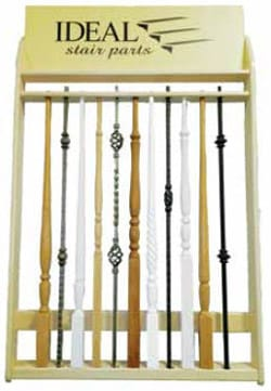 Mixed Balusters Stair Parts Display